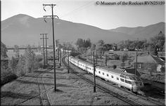 Saying goodbye; the final eastbound Olympian Hi pulls into Missoula as one of its iconic Skytop lounge-observations brings up the rear on May 23, 1961.