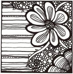 bloemen zentangle - Google zoeken