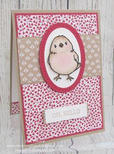 Stampin' Up! - Honeycomb Happiness Hello Card .... Teri Pocock - http://teriscraftspot.blogspot.co.uk/2016/02/honeycomb-happiness-hello.html