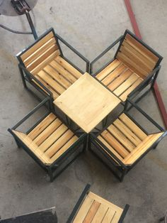 new ideas for patio furniture diy metal Welded Furniture, Wood Patio Furniture, Iron Furniture, Diy Pallet Furniture, Steel Furniture, Furniture Sets, Modern Garden Furniture, Diy Living Room Furniture, Industrial Design Furniture