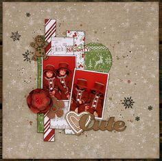Cute Scrapbook Page by Ulrika Wandler using BoBunny Dear Santa Collection. #BoBunny @hemmahosulrika