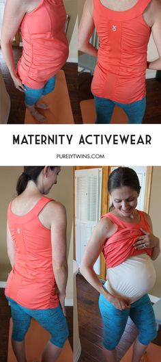 Maternity Activewear with built-in belly support for your fit pregnancy