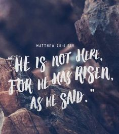 """""""He is not here, for He has risen, as He said. Jesus Has Risen, He Has Risen, Biblical Quotes, Religious Quotes, He Is Risen Quotes, Good Friday Images, Easter Bible Verses, Rise Quotes, Happy Easter Quotes"""