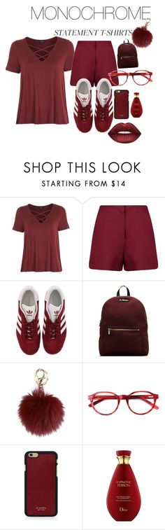 """""""One color style"""" by smuxe ❤ liked on Polyvore featuring Topshop, Boohoo, adidas, Dr. Martens, Vianel and Lime Crime"""