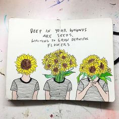 Beautiful art by The idea of plant roots digging deep into open wounds. Beautiful art by Kunstjournal Inspiration, Bullet Journal Inspiration, Journal Quotes, Journal Pages, Arte Van Gogh, Frida Art, Arte Sketchbook, Wreck This Journal, Wow Art