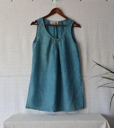 Indigo dress blue dress women tunic tops by EthicalLifeStore