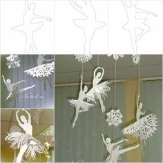 Creative Ideas - DIY Beautiful Snowflake Ballerinas from Templates