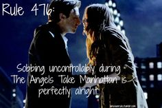 Rule 476: Sobbing uncontrollably during The Angels Take Manhattan is perfectly alright. Submission! Image Credit