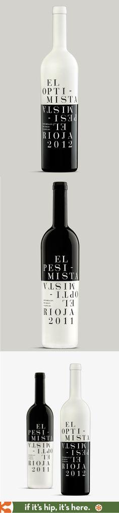 Optimist and Pessimist Rioja wines designed by Sidecar.