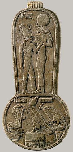 Menat of Taharqo, Late Period, Dynasty 25, reign of Taharqo, ca. 690–664 b.c. Egyptian Faience