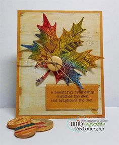Unity Stamp Co. Every single stamp is manufactured within the walls of Unity Stamp Company – so we can shout from the rooftops that our products are all made right here in the grand ol' United States of America. Advent, Unicorn Birthday Cards, Art Trading Cards, Leaf Cards, Unity Stamps, Thanksgiving Cards, Fall Cards, Holiday Crafts, Party Crafts
