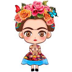 Estampa para camiseta feminina Frida Kahlo 003068