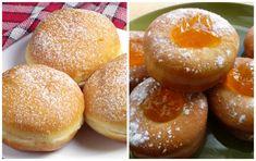 Výborný hrnčekový recept na domáce šišky z jogurtového cesta. Doughnut, Hamburger, Bread, Desserts, Food, Buns, Basket, Tailgate Desserts, Meal