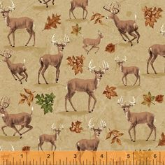 Tan Deer Fabric Forest Whistler Studios Pattern 42260 by NansCraftRoom on Etsy