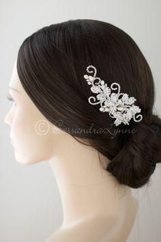 Vintage Inspired Pearl & Rhinestone Bridal Hair Comb