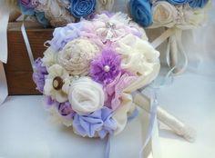 Bridal bouquet purple bouquet  lilac bouquet by MySecretFace