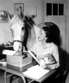 Misty of Chincoteague and Marguerite Henry.  One of my favorite childhood authors and I just loved Misty!
