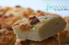 Loaded #Potato #Focaccia   I love that she uses potatoes to make the bread! From Anyonita Nibbles