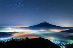 富士山の夜景(静岡県〜山梨県)