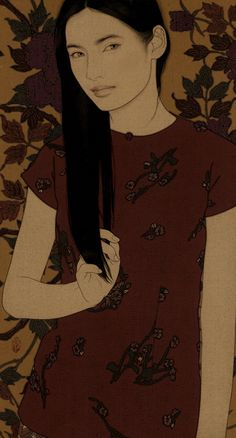 Art by Yasunari Ikenaga Japanese Art Modern, Japanese Prints, Modern Art, Korean Painting, Japanese Painting, Japanese Illustration, Illustration Art, Art Occidental, Art Japonais