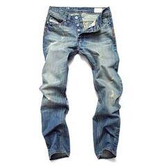 Men Jeans Hole Ripped Stretch Destroyed Jean Homme Masculino Fashion Design Men's Jean Skinny Jeans For Male Pants Worker Boots, Denim Pants Mens, Destroyed Jeans, Jeans Skinny, Timberland Mens, Denim Fashion, Slim, Biker, Men Clothes