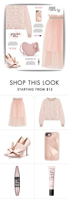 """""""Pink Darling"""" by cara-mia-mon-cher ❤ liked on Polyvore featuring Mother of Pearl, See by Chloé, Rebecca Minkoff, Maybelline and NARS Cosmetics"""