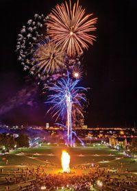 University of Tulsa homecoming bon fire!