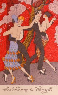 George Barbier Les Fureurs Du Tango  La Guirlande des Mois, 1920)