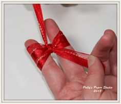 how to tie a bow for card making