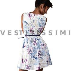 Vestitino donna fantastia floreale  Vestitini donna con fantasia a fiori, perfetto per il periodo estivo. Il vestito presenta una scollatura a girocollo ed una cintura in vita.  Clicca qui -> http://www.ebay.it/itm/Vestito-vestitini-donna-sexy-vestitino-fiori-mini-abito-floreale-miniabito-Vs27-/262512578565?var=&hash=item82b2e968ed   L' abito si apre e si chiude tramite una cerniera posta sulla schiena e che scompare una volta richiusa. L' abitino è in cotone