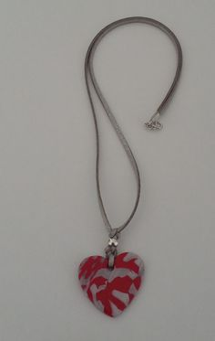 "Halskette ""fuego"" Halsschmuck Pendant Necklace, Hearts, Jewelry, Awesome, Etsy, Neck Chain, Bijoux, Jewlery, Jewels"