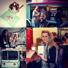 We were paid a #visit by some of our #favourite #foodies today! Thanks to Moto Yogo for our #froyo #delivery! They even let us get in their little #electricvan.