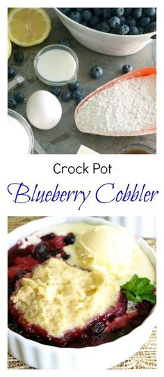 Crock Pot Blueberry Cobbler is simple and delicious. You can easily swap our fruit and berries to use this recipe in a variety of ways.