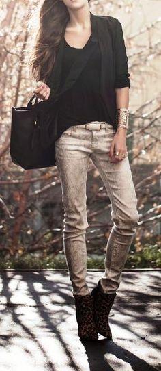 Glamorous black sheer blazer street fashion   ღ♥♥ღ Fashion ღ♥♥ღ by pearlescent