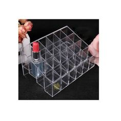 awesome Leegoal 24 Stand Transparent Plastic Trapezoid Makeup Cosmetic Organizer Display Stand