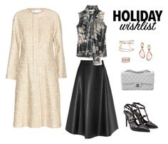 Holiday Wish List by leahbprice on Polyvore featuring Honor, Oscar de la Renta, Lanvin, Valentino, Chanel, Mark Broumand, Vince Camuto, winterstyle and 2015wishlist
