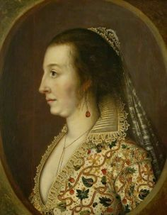 Attributed to William Larkin, The Countess of Shirley. ?1620s