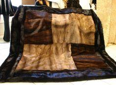 Vintage Furcoat fur blanket made from vintage fur coats - Fur Blanket, Afghan Blanket, Fur Fashion, Fashion Fabric, Fur Rug, Vintage Fur, Vintage Stuff, Old Clothes, Fur Throw