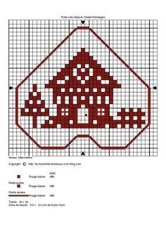 Brigitte alias Bri59 m'a demandé si je pouvais créer une pendouille maison avec un petit chalet de montagne. Voilà, je l'ai fais et je vous propose cette petite grille qui je l'espère vous donnera envie de la broder ..... Pour obtenir la grille, cliquez...