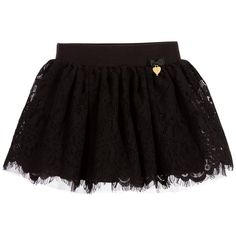 Angel's Face Girls Black Cotton Lace Skirt at Childrensalon.com