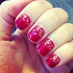 red glitter gradient nailart