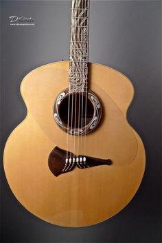2010 Klein Guitars Pink Ivory Moon -  Acoustic Guitar - 1990s Steve Klein Spruce Top