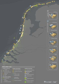 Infographic Maps for Deltaplan Kust by Sonja Kuijpers, via Behance