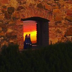 Sometimes the reflection catches the sunset better than a direct photo can... here at Podere Patrignone - Tuscany Villa Rental in Chianti, with my crappy phone.  #photography #tuscany #chiantivacationrentals photo & © by Verity at patrignone.com