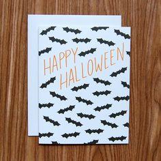 Happy Halloween Bats Card from Happy Cactus Designs
