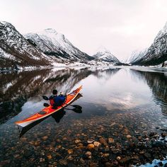 Get your feet wet with #GoProFamily member @tfbergen on this #TravelTuesday in #Norway.  Captured on #HERO5 Black with #GoProRemo by @irenetjel.  • • • #GoPro #GoProTravel #Kayak #GetOutside #Kayaking #LandscapePhotography