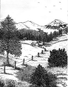 Based on what you see, you may either choose to purchase one of the drawings or paintings shown (or prints of them), or you may request your own landscape scenery that you would like me to draw for you.  My prices are very negotiable and as long as you are interested in buying my artwork, I can even sell it to you below the base price.  Art is therapeutic to mind and body, so I want to share my art and sell to anyone who has an interest in it and finds it aesthetically pleasing.