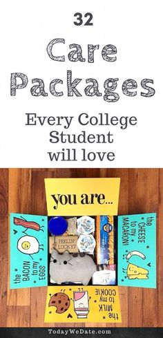 e369a7a0 Off to college? Here are 32 #college Care Packages for your favorite  scholar -