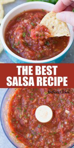 Canned Salsa Recipes, Mexican Salsa Recipes, Fresh Tomato Recipes, Best Mexican Salsa Recipe Ever, Traditional Mexican Salsa Recipe, Crockpot Recipes, New Recipes, Vegetarian Recipes, Favorite Recipes