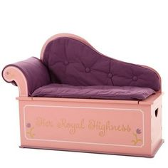 The Levels of Discovery Princess Fainting Couch w/Storage, Model # is part of the Levels of Discovery Always A Princess Collection. The Levels of Discovery Princess Fainting Couch w/Storage features a removable cushion and area to store toys. Storage Bench Seating, Seat Storage, Toy Storage, Storage Chest, Couch Storage, Storage Area, Fainting Couch, Princess Room, Royal Princess